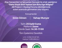 Daha Güçlü Sivil Toplum İçin Rota Ege Bölgesi AB Projesi 2. Diyalog Forumu etkinliği